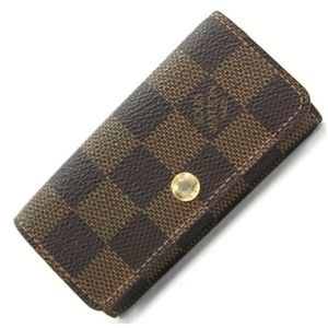 Authentic Louis Vuitton Damier 4 ring key holder